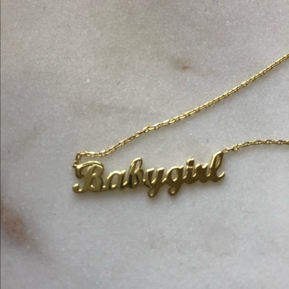 Jewelry Gorgeous Cursive Babygirl Name Necklace Poshmark